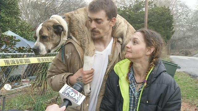 Couple says dog saved them from early-morning house fire