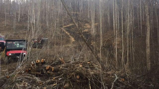 Scene of Haywood Co. vegetation fire (FOX Carolina/ 2/24/18)