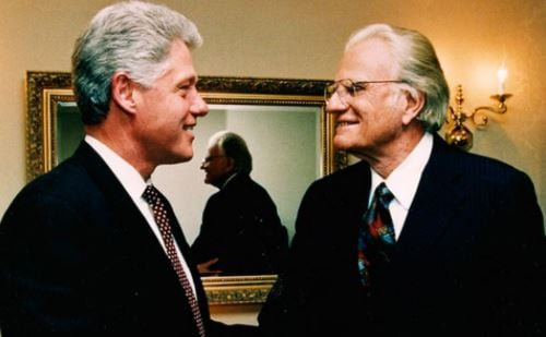 Former Pres. Bill Clinton (left) and Billy Graham (Source: Billy Graham Evangelical Assn.)