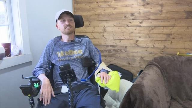 Britten Olinger was left paralyzed after the accident one year ago (FOX Carolina)
