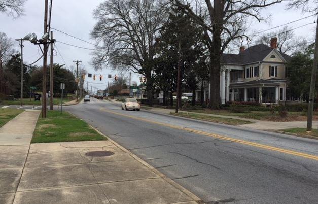 Area where the coroner said the crash occurred (FOX Carolina/ Feb. 28, 2018)