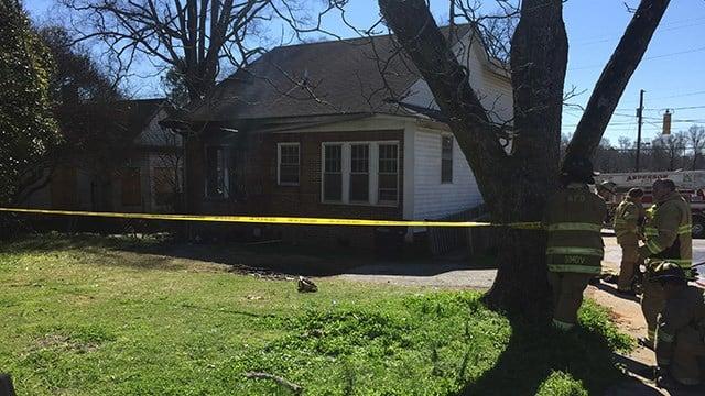 House fire on Cleveland Avenue. (3/4/18 FOX Carolina)