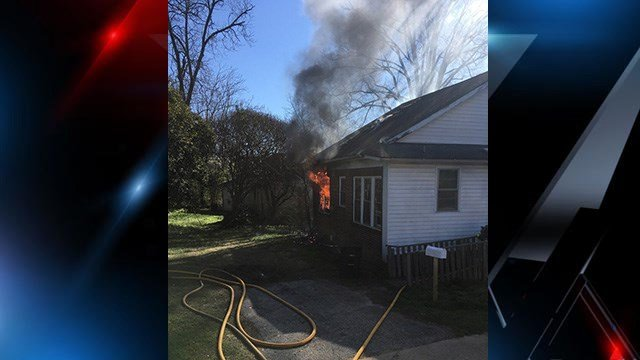 House fire on Cleveland Avenue. (Source: Anderson City FD)