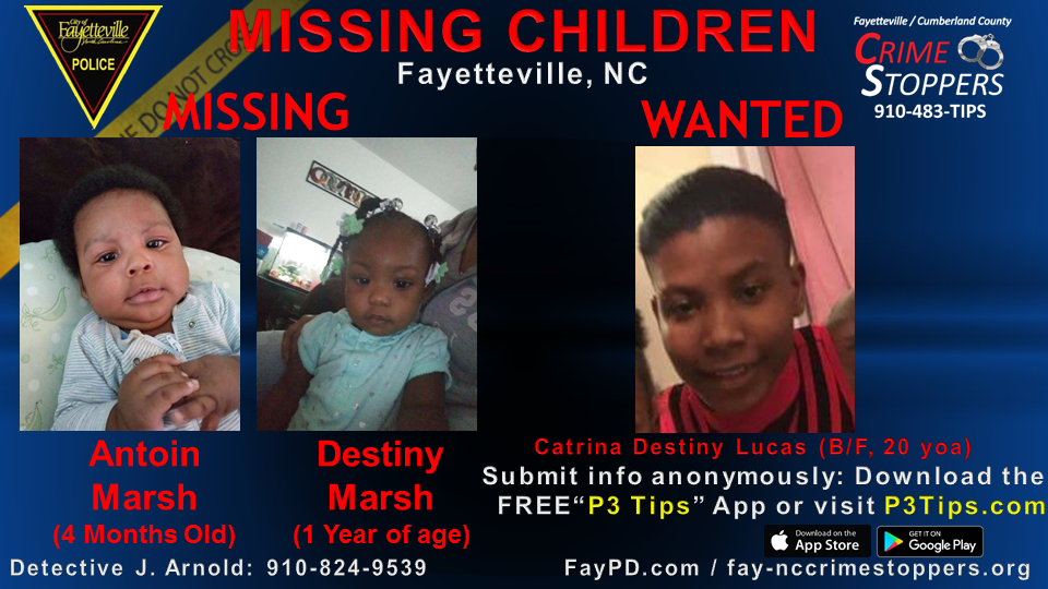 Photo of the children and suspect (Courtesy: Fayetteville PD)
