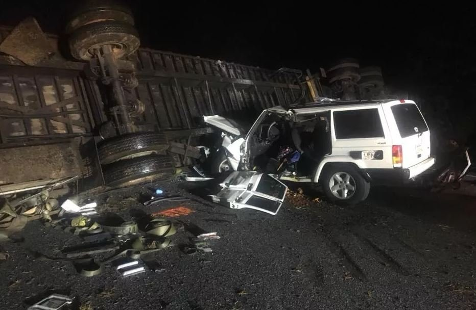 Scene of the crash (Spartanburg Co. Emergency Management)