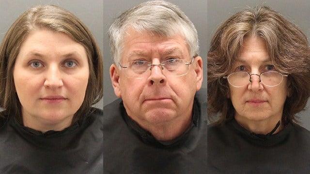 Left to right: Jessica Glymph, James Hanahan Jr., and Carol Meltzer-Beckenhauer (Source: Oconee County Sheriff)