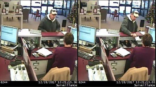 Surveillance footage from robbery at BB&T on East North Street in Greenville. (Source: GCSO)