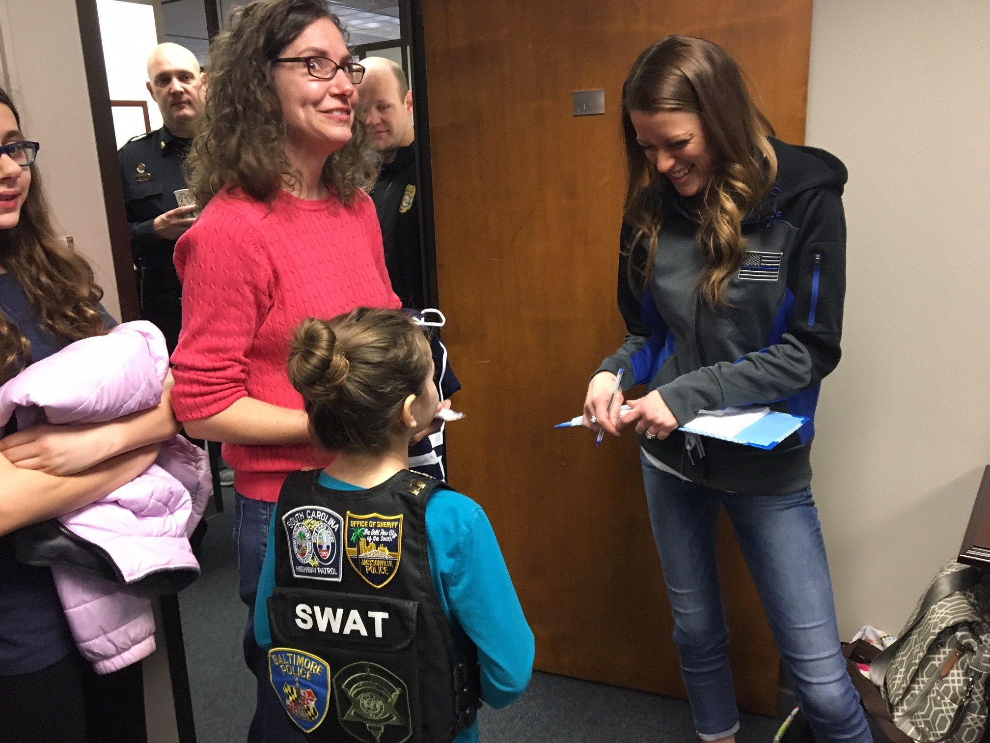 Laurie and Abby meet Meghan Jacobs, wife of fallen Greenville Police Officer Allen Jacobs (FOX Carolina: 3/8/18).