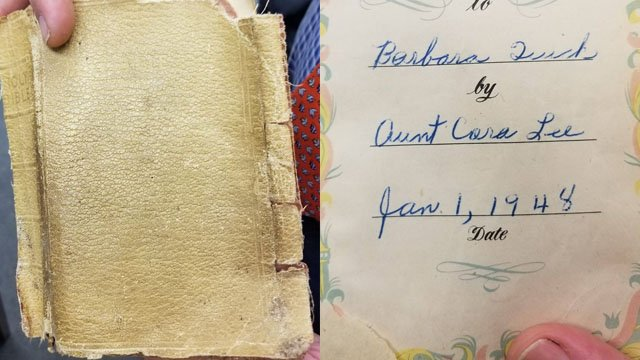 Photos of the lost Bible (Source: Spartanburg County Sheriff's Office)