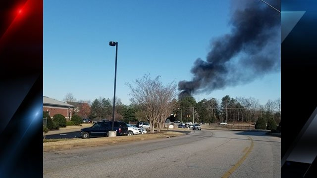 Black smoke from the apartment fire (Source: Ashley Lollis Luquire)