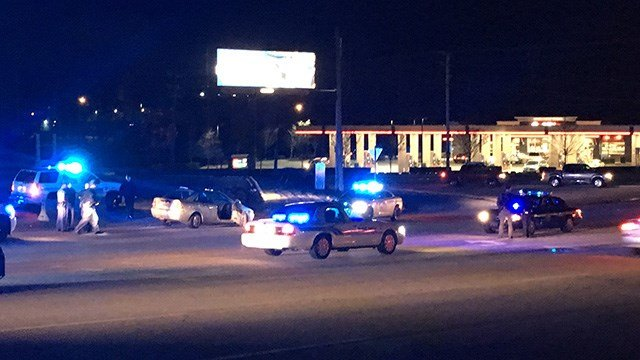 Scene of pursuit on Roper Mountain Road. (3/12/18 FOX Carolina)