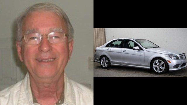 Pastor John Alford and photo of Mercedes similar to one stolen (Source: CNN/NC SBI)