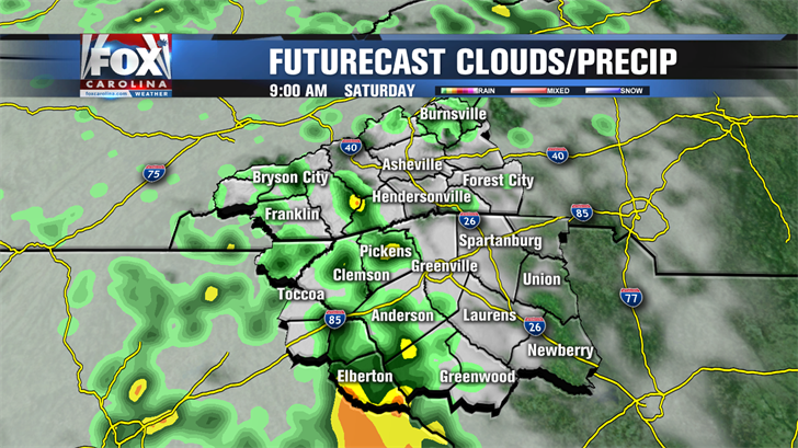 Rain chances taper off, dry and mild for St. Patrick's Day