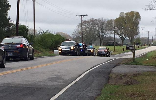 Deputies on Greenpond Road in Fountain Inn (FOX Carolina/ March 20, 2018)