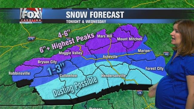 Cold blast arrives, along with heavy mountain snow