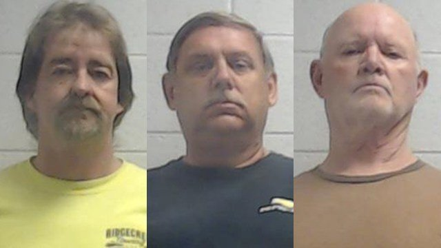 Left to right: Jeffrey Shelley, Harvey Carpenter and Calvin Woodard (Source: Jackson Co. Sheriff's Office)