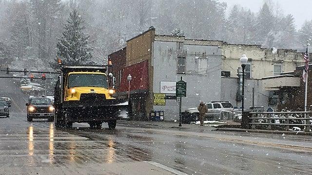 Snow in Bryson City (Mar. 21, 2018/FOX Carolina)