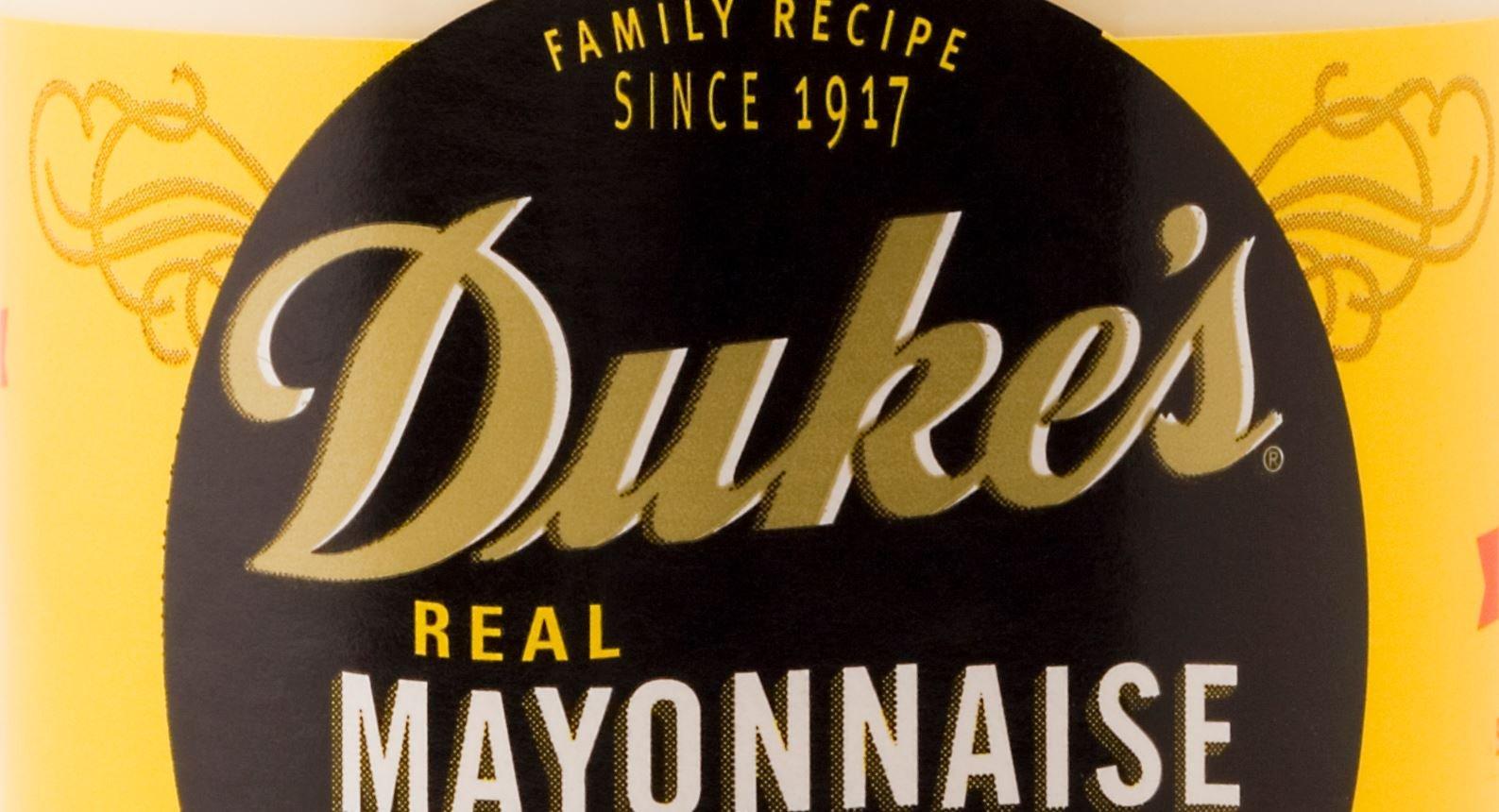 Duke's Mayonnaise label (Wikimedia Commons)