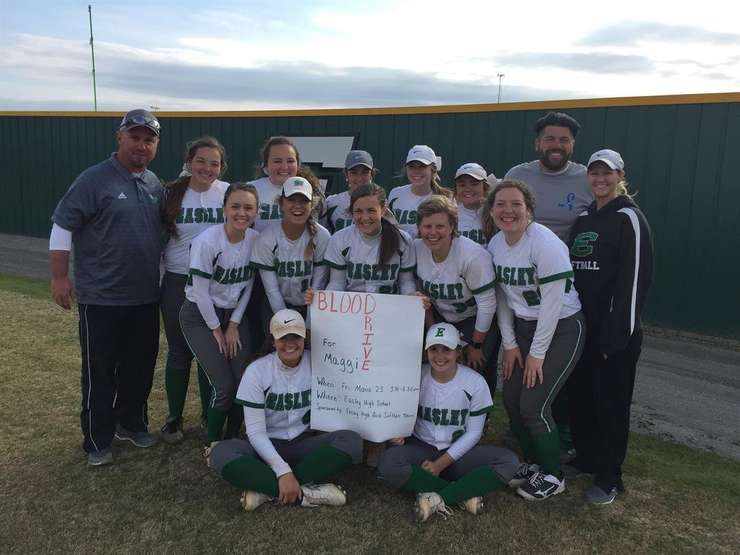 Easley softball shows their support for Maggie. (FOX Carolina/Mar. 23, 2018).