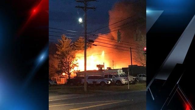Crews battle fire in training exercise in Belton (Source: Brandon Stewart)