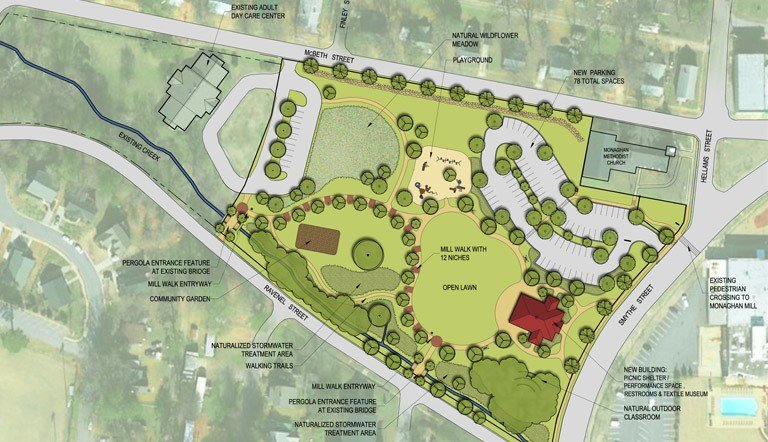 Rendering of the proposed textile heritage park (Provided)