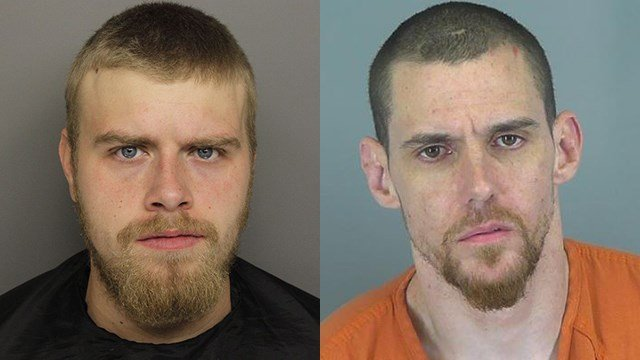 Andrew Newby (L) and Matthew McCullough (Source: GCSO/SCSO)