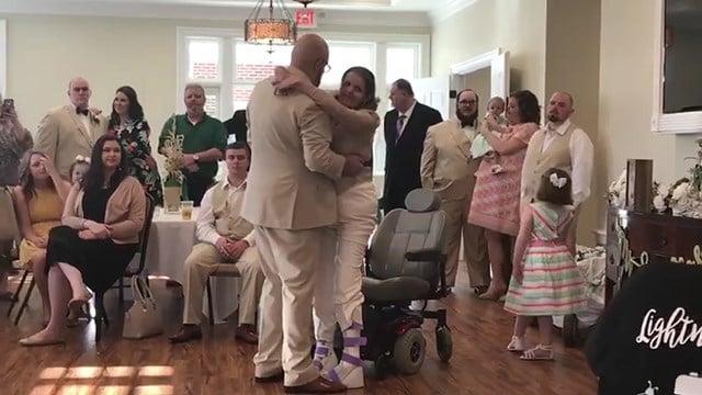Regina Clardy dances at her son's wedding (Source: Pruitt Health Pickens)