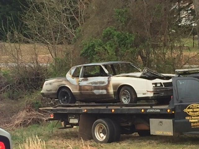Car involved in crash (Mar. 27, 2018/FOX Carolina)