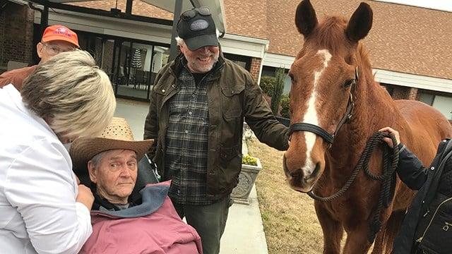 Birthday surprise for Dr. John B. Martin Jr. at Clemson Downs. (3/27/18 FOX Carolina)