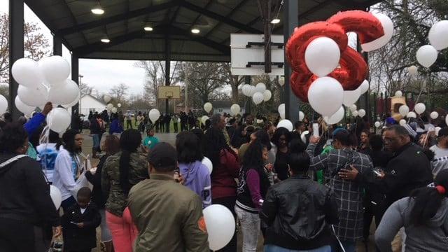 Vigil for Lamarckus Terrell Boswell. (3/27/18 FOX Carolina)