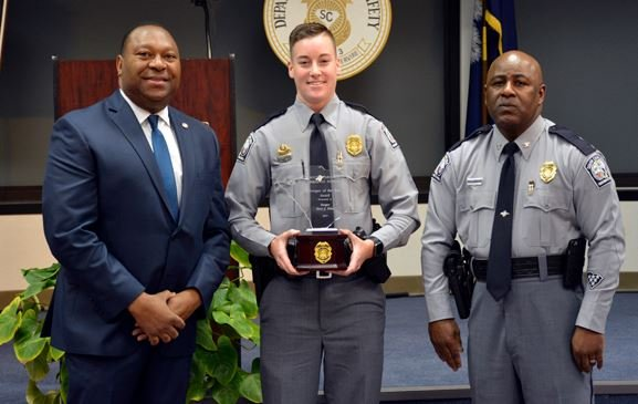 Tpr. Stevi J. Price (center) named Trooper of the Year (Source: SCDPS)