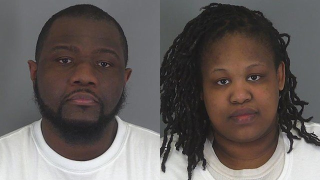 AJ Simmons and Brittany Smith (Source: Spartanburg Co. Detention)
