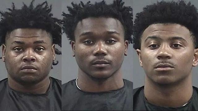 From left: Johnson, Ferguson, Fuller (Source: Clemson police)