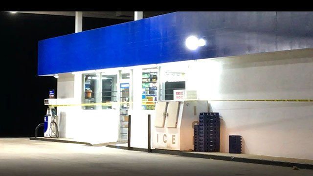 Scene of robbery in Greenville (FOX Carolina/ 3/30/18)