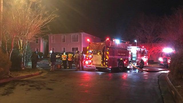 Fire at Springwood Apartments. (3/31/18 FOX Carolina)