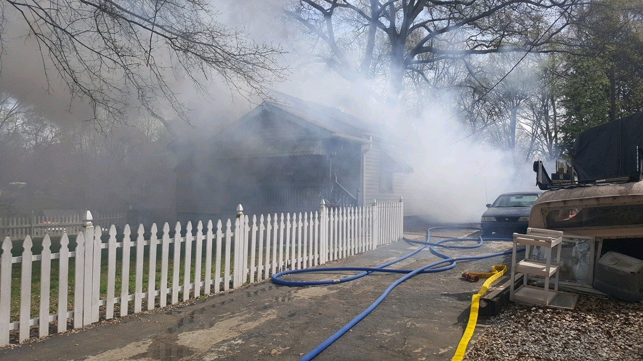 Fire on 4th Street (Source: Parker Fire District)