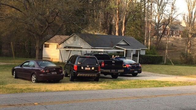 Scene of home burglary in Greenville. (4/2/18 FOX Carolina)