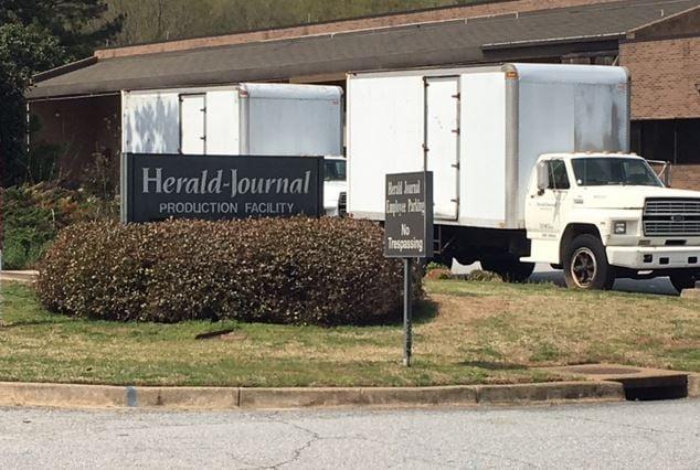 Herald Journal production facility (FOX Carolina/ April 3, 2018)