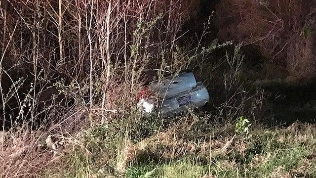 Scene of crash on I-385. (4/3/18 FOX Carolina)