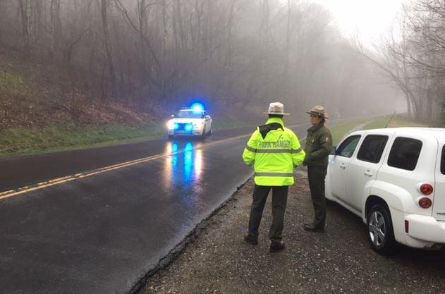 Blue Ridge Parkway closed near Craggy Gardens (April 4, 2018/FOX Carolina)