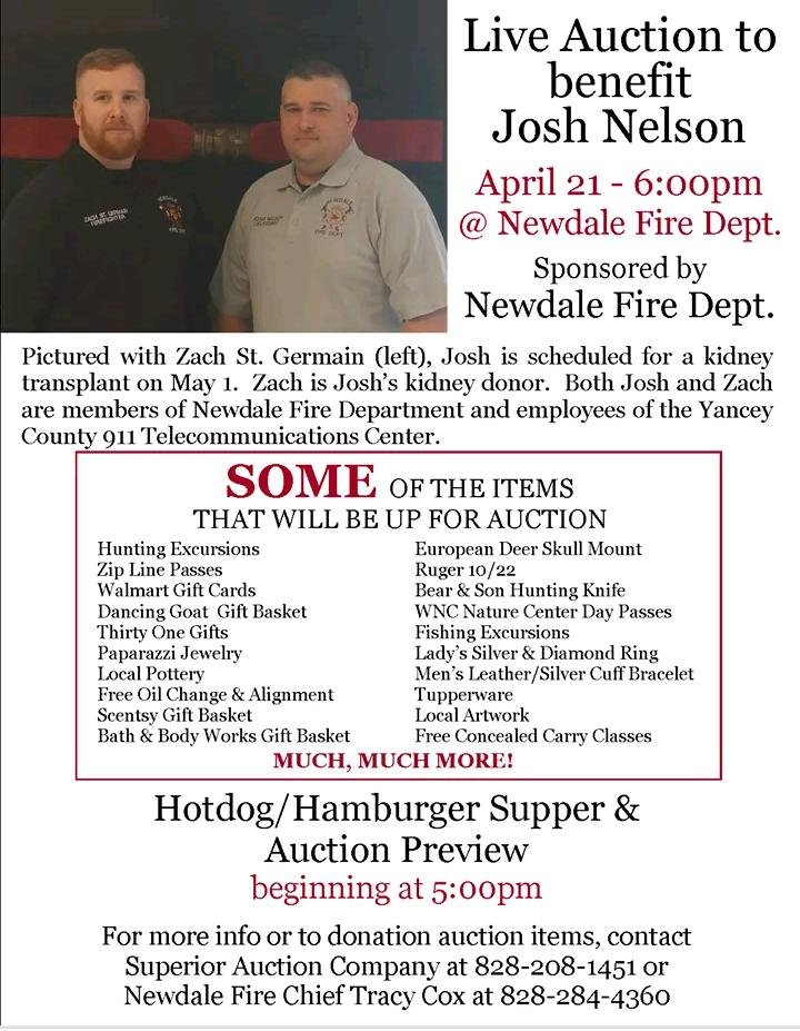 Flyer for the auction (provided)