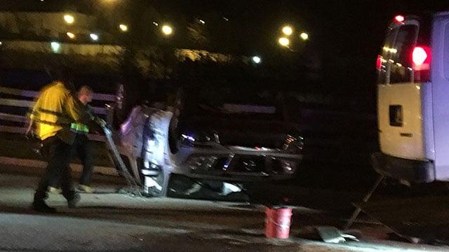 Scene of Travelers Rest crash. (FOX Carolina/ 4/6/18)