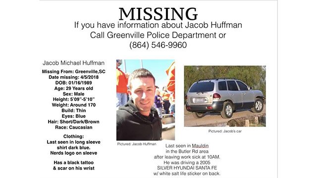 Flyer for missing person Jacob Huffman (Source:Family)
