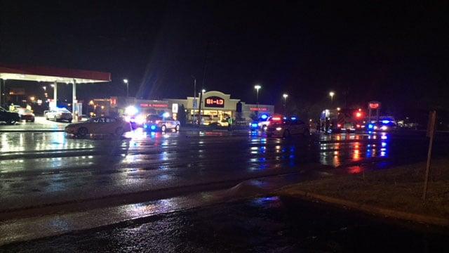 Scene of Greenville Co. crash (FOX Carolina/ 4/7/18)