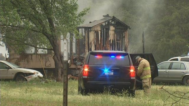 Firefighters and emergency responders at the scene of the fire (April 9, 2018/ FOX Carolina)