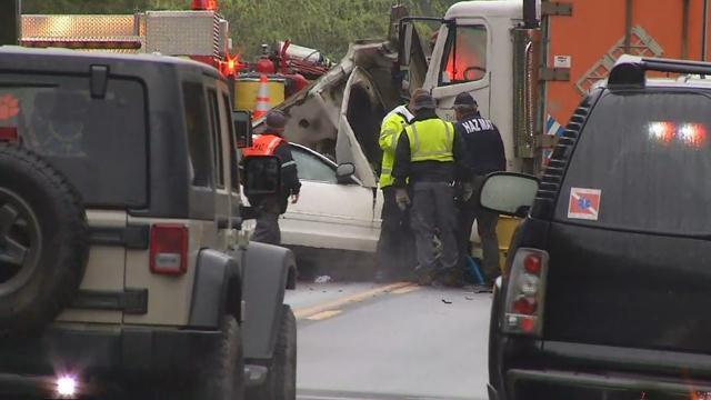 Scene of the crash on Liberty Highway (FOX Carolina/ April 9, 2018)