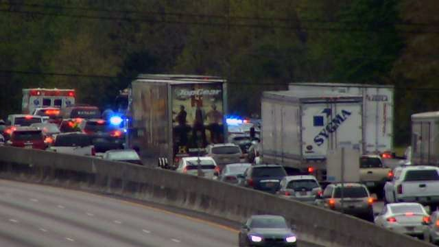 Coroner called to I-85 north crash. (Apr. 9, 2018/FOX Carolina)