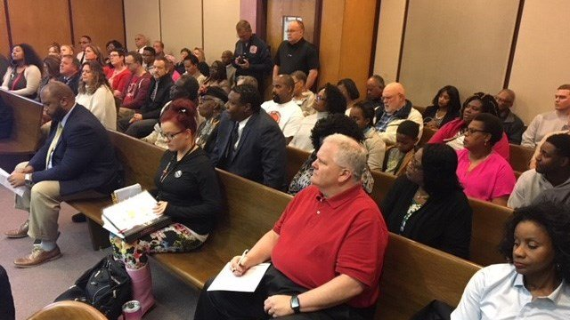 Spartanburg City Council meeting on Monday. (4/9/18 FOX Carolina)
