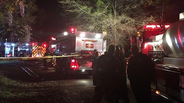 Scene of house fire on Bonner Road. (4/9/18 FOX Carolina)