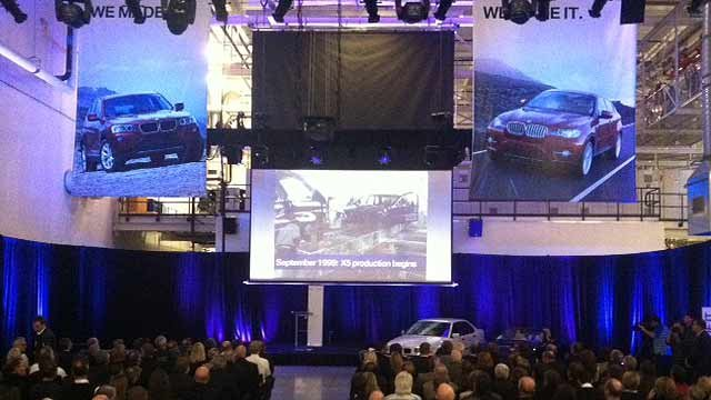 BMW announces its plans to add new jobs and produce a new X4 model in Spartanburg. (Jan. 12, 2012/FOX Carolina)